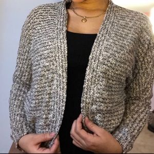 Forever 21- cardigan sweater black and white